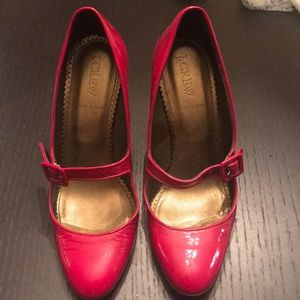 Jcrew Red patent Heels